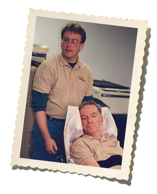 Brian Radwell and his father